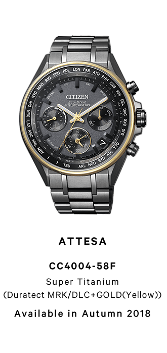 ATTESA CC4004-58F Super Titanium (Duratect MRK/DLC+GOLD(Yellow)) Available in Autumn 2018